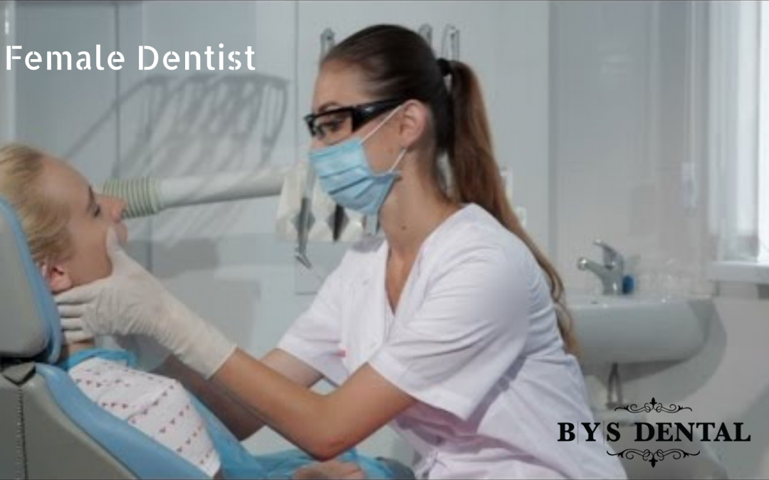 female dentist with her patient